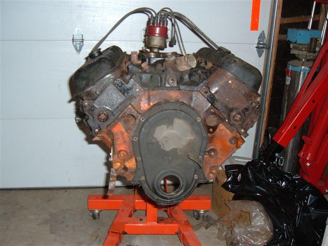 454 BBC Engine Block(main caps & bolts) casting # 361959