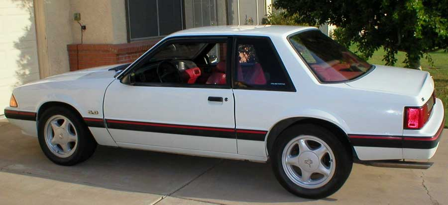 1991 Sport Coupe Blanch Ford Mustang Notchback