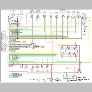 Wiring Diagrams For 89 Ford Efi on gm one wire alternator wiring diagram